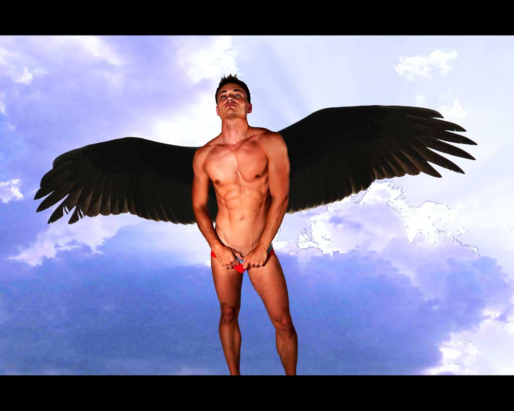 Dark Angel - gay art male art by Michael Taggart Photography