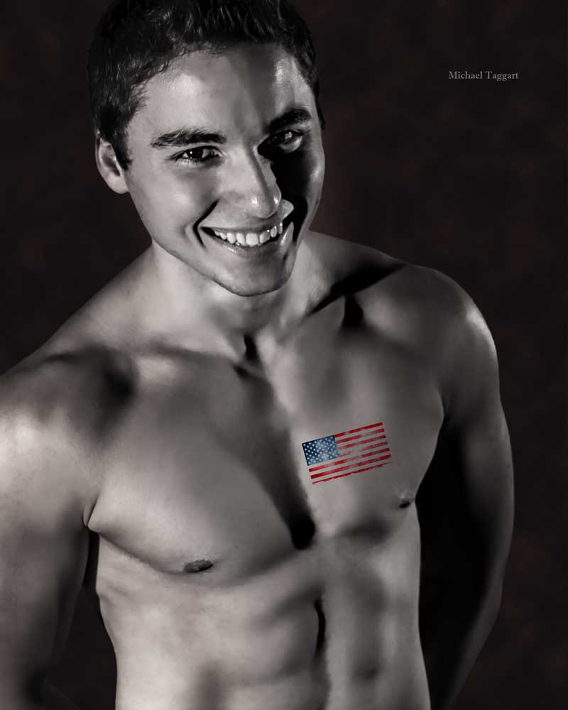 Matt - heart flag - Gay Art Male Art by Michael Taggart Photography