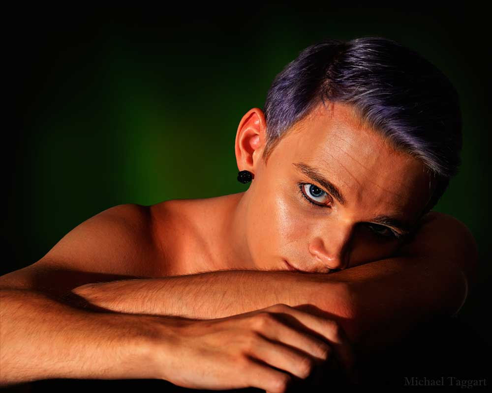 Noah - Sad Eyes - Gay Art Male Art by Michael Taggart Photography