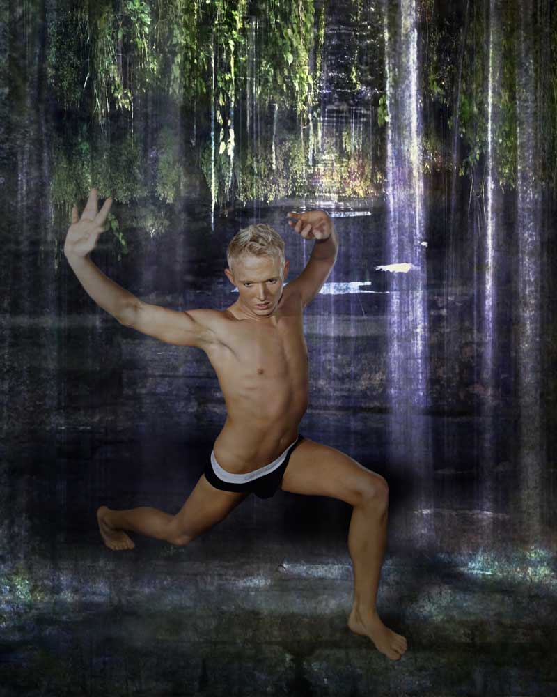 Trevor Werner - Jungle Warrior - Gay Art Male Art by Michael Taggart Photography