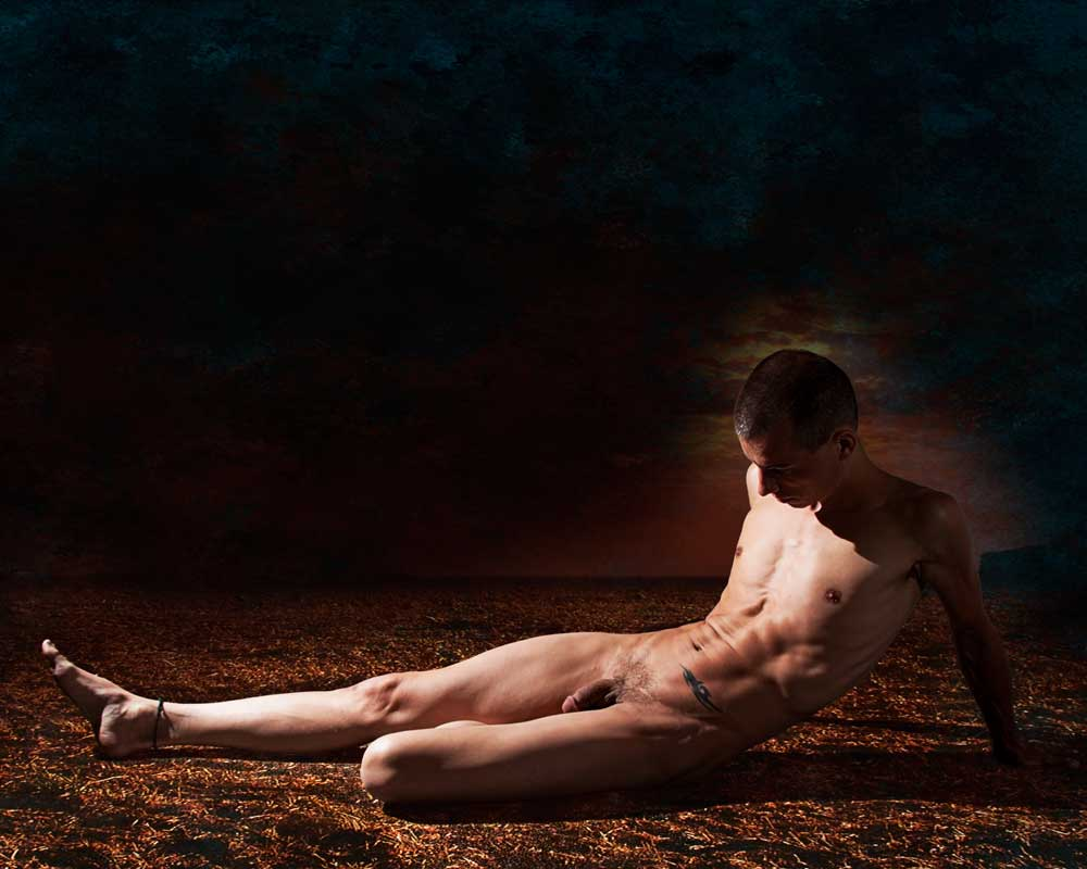 Arty - Dark Earth - Gay Art Male Art by Michael Taggart Photography