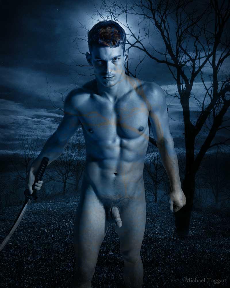 Stone Heart - Legend of the Phantom Swordsman - Gay Art Male Art by Michael Taggart Photography