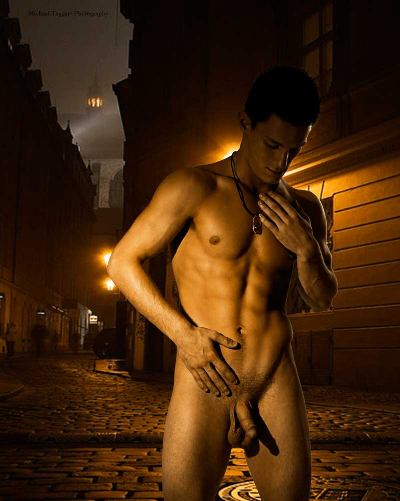 Streetlight  - Gay Art Male Art by Michael Taggart Photography
