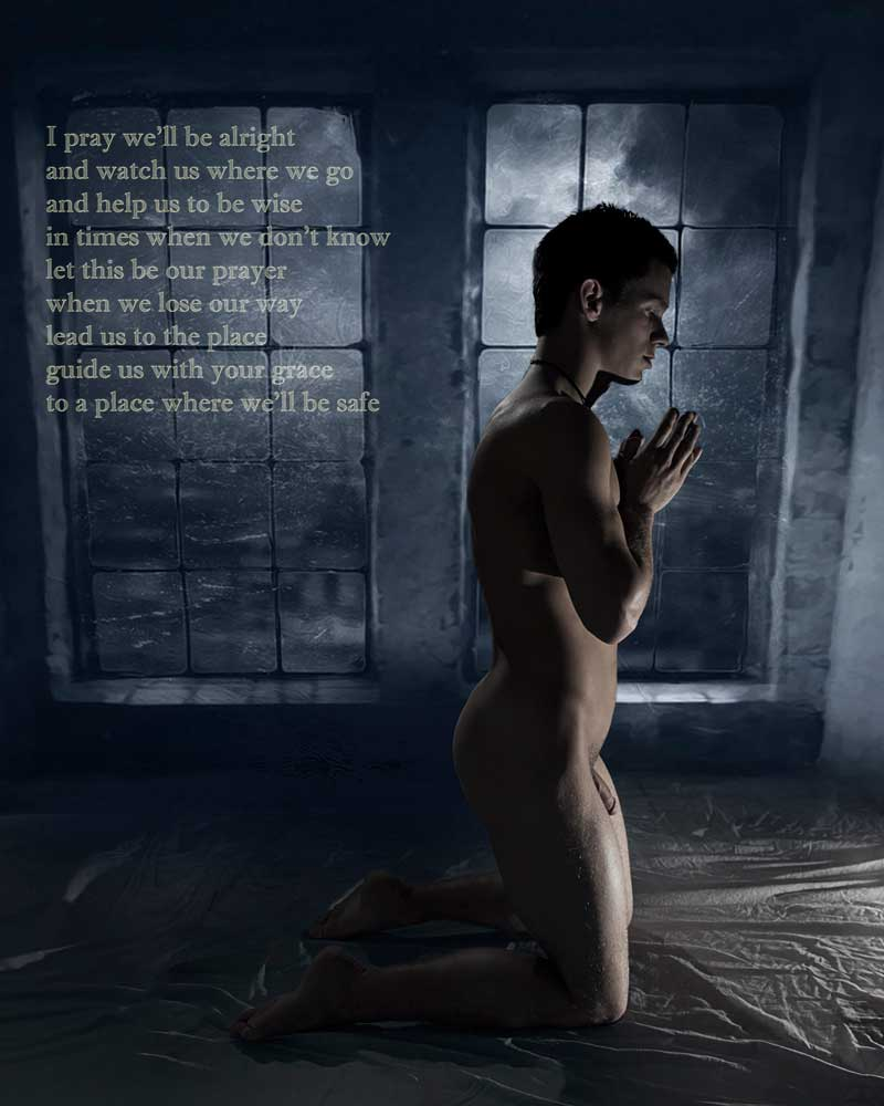 The Prayer  - Gay Art Male Art by Michael Taggart Photography