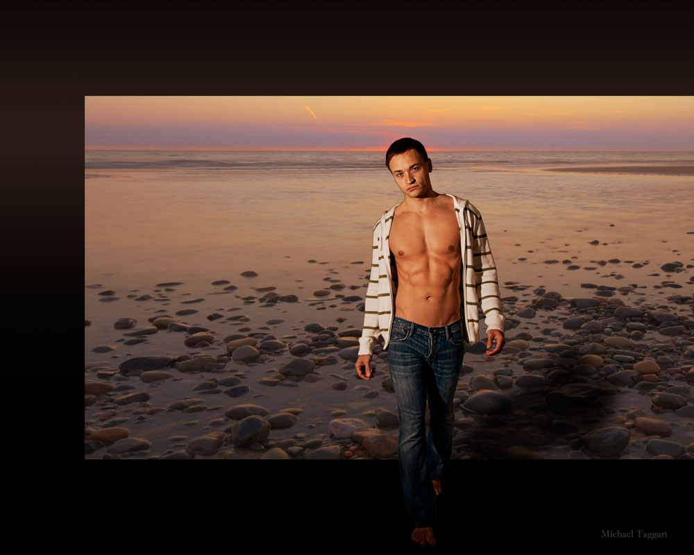 Stepping Outside - Gay Art Male Art by Michael Taggart Photography